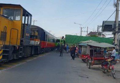 Airport Train Hits Truck