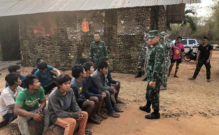 Cambodian Loggers Caught in Thailand