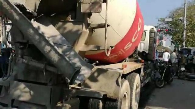 One Dead After Cement Truck Crashes Outside PP High School