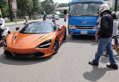 Expensive McLaren Hit By Bus