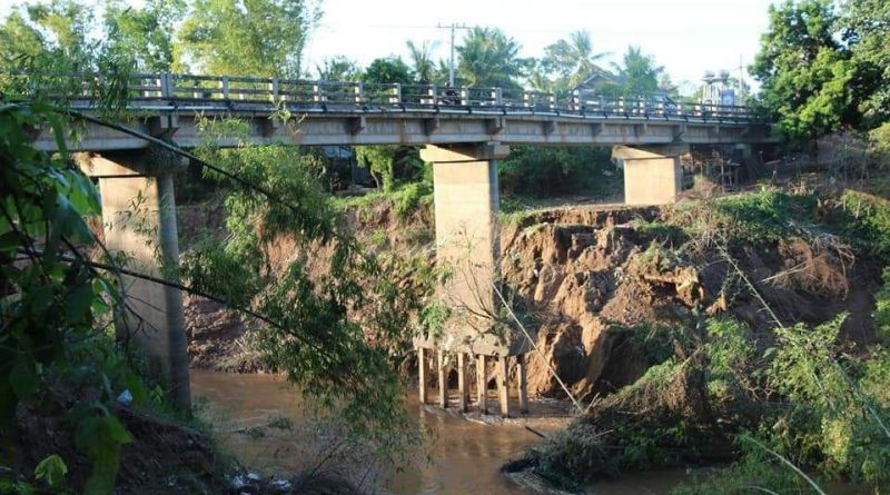 Bridge Damaged In Kampong Cham