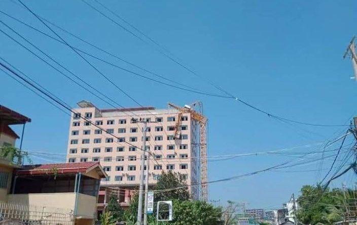 Crane Collapses In Sihanoukville