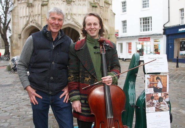 British Cellist Buskers Raises Cash For Cambodian Books