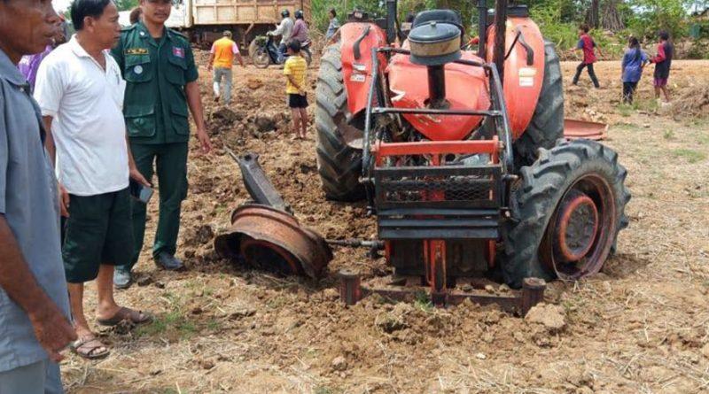 Anti-Tank Mine Blows Up Tractor In Battambang