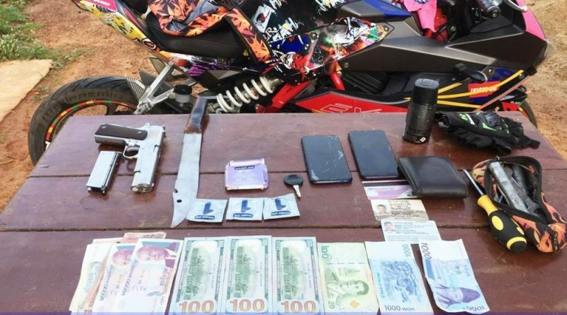 Gun, Knife, Condoms And Currency Seized From Loud Moto Riders