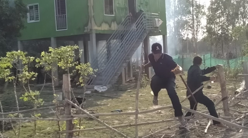 Angry Man Under Siege In Svay Rieng