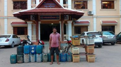 Diesel Thief Caught At New Siem Reap Airport
